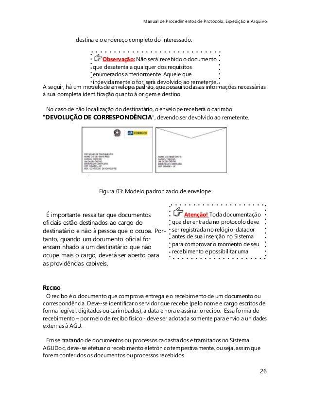 Manual De Protocolo E Expedição De Documentos
