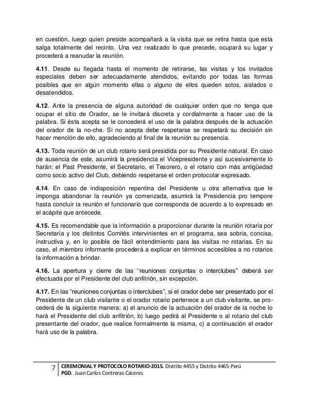 Manual de protocolo Distrito-4455- rotary 2015