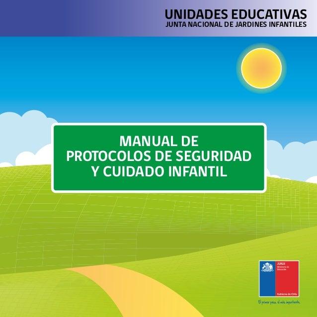 MANUAL DE PROTOCOLOS DE SEGURIDAD Y CUIDADO INFANTIL UNIDADES EDUCATIVAS JUNTA NACIONAL DE JARDINES INFANTILES