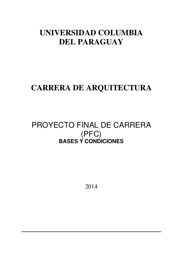 Manual de proyecto final de carrera arquitectura for Carrera de arquitectura