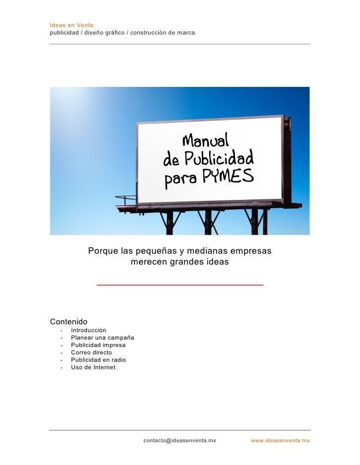 manual de publicidad para pymes