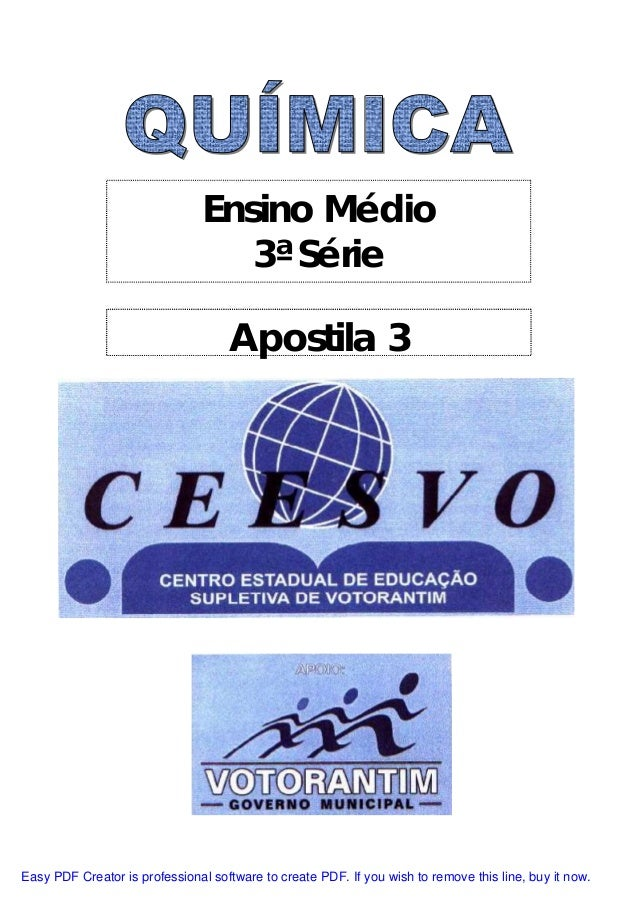 Ensino Médio 3ª Série Apostila 3 Easy PDF Creator is professional software to create PDF. If you wish to remove this line,...