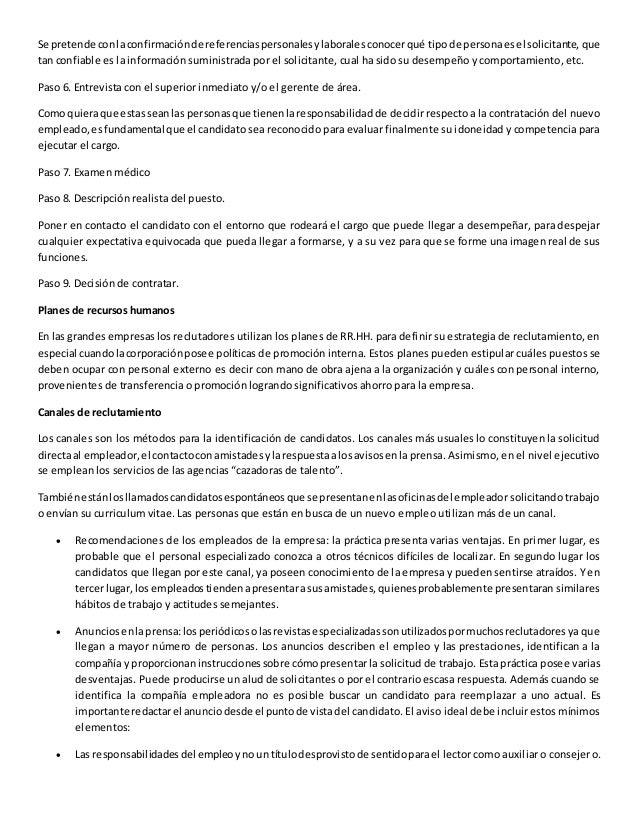 Manual de reclutamiento y selección de personal