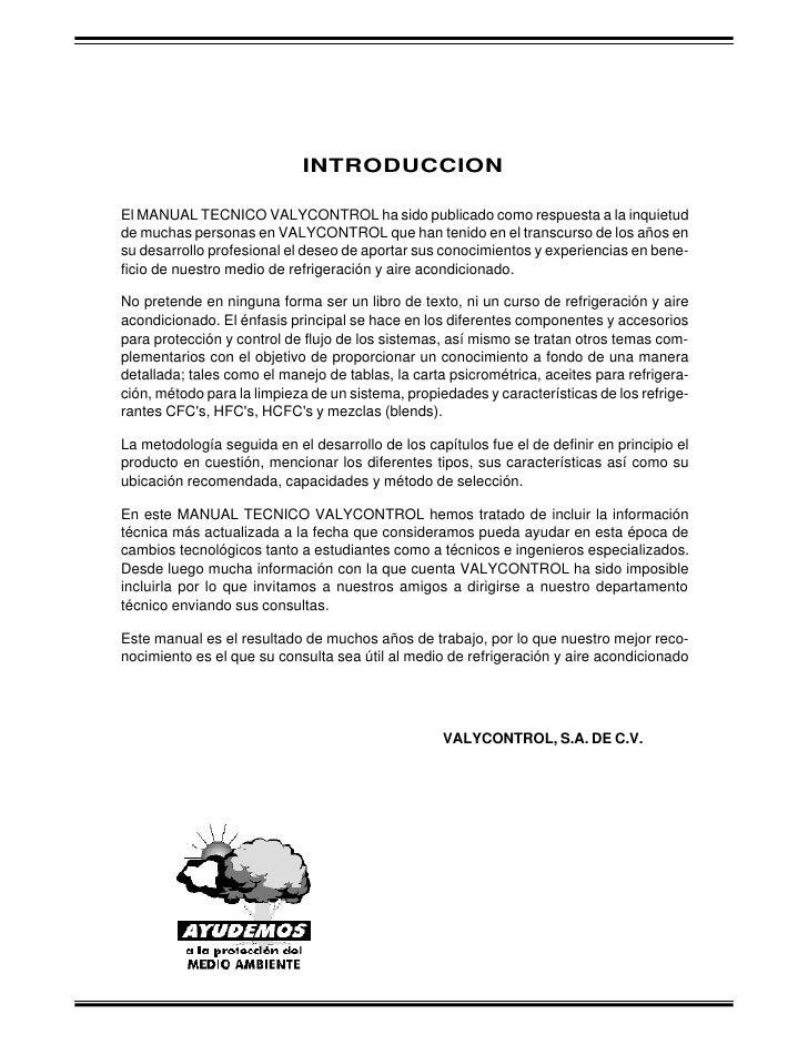 INTRODUCCIONEl MANUAL TECNICO VALYCONTROL ha sido publicado como respuesta a la inquietudde muchas personas en VALYCONTROL...
