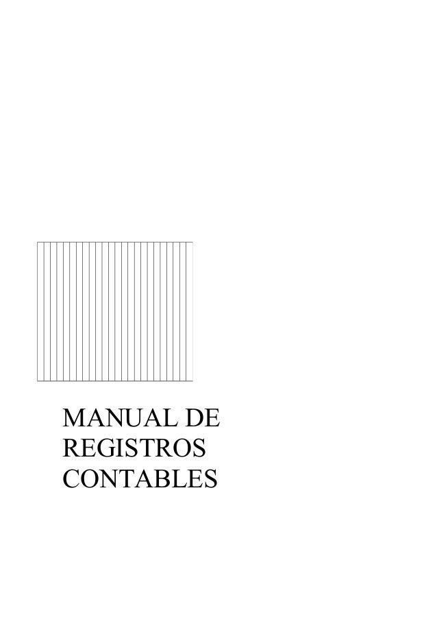 Manual de registros contables