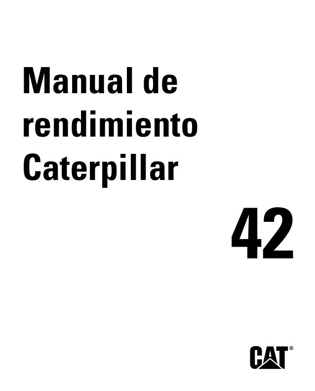 Manual de rendimiento caterpillar