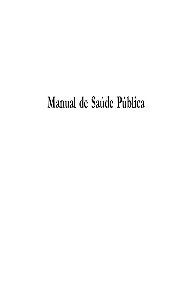Manual de saúde pública Slide 2