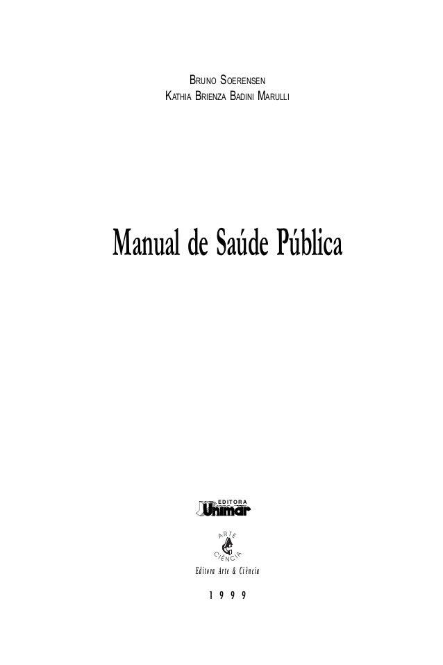 Manual de saúde pública Slide 3