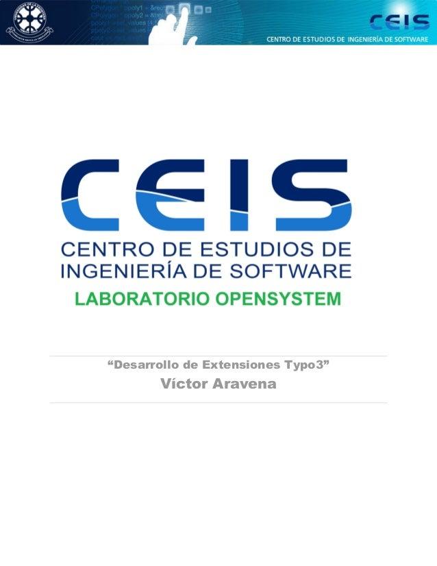 """""""Desarrollo de Extensiones Typo3"""" Víctor Aravena"""