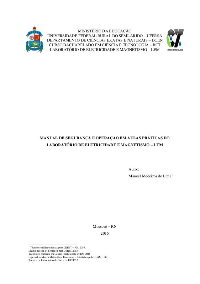MINISTÉRIO DA EDUCAÇÃO UNIVERSIDADE FEDERAL RURAL DO SEMI-ÁRIDO – UFERSA DEPARTAMENTO DE CIÊNCIAS EXATAS E NATURAIS – DCEN...