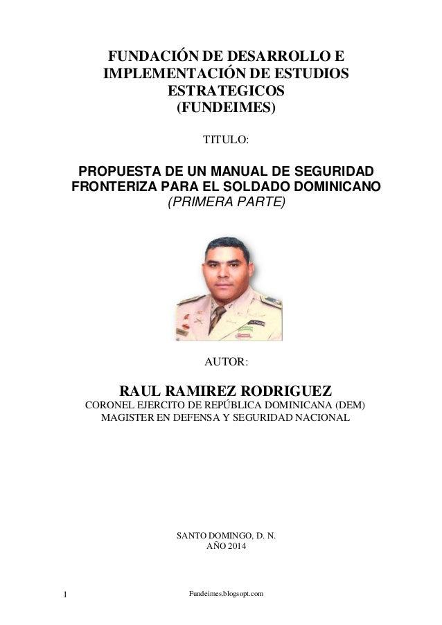 Fundeimes.blogsopt.com1 FUNDACIÓN DE DESARROLLO E IMPLEMENTACIÓN DE ESTUDIOS ESTRATEGICOS (FUNDEIMES) TITULO: PROPUESTA DE...