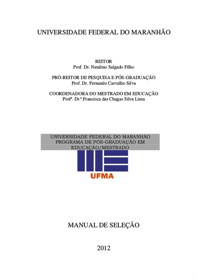 Manual De Selecao 2012