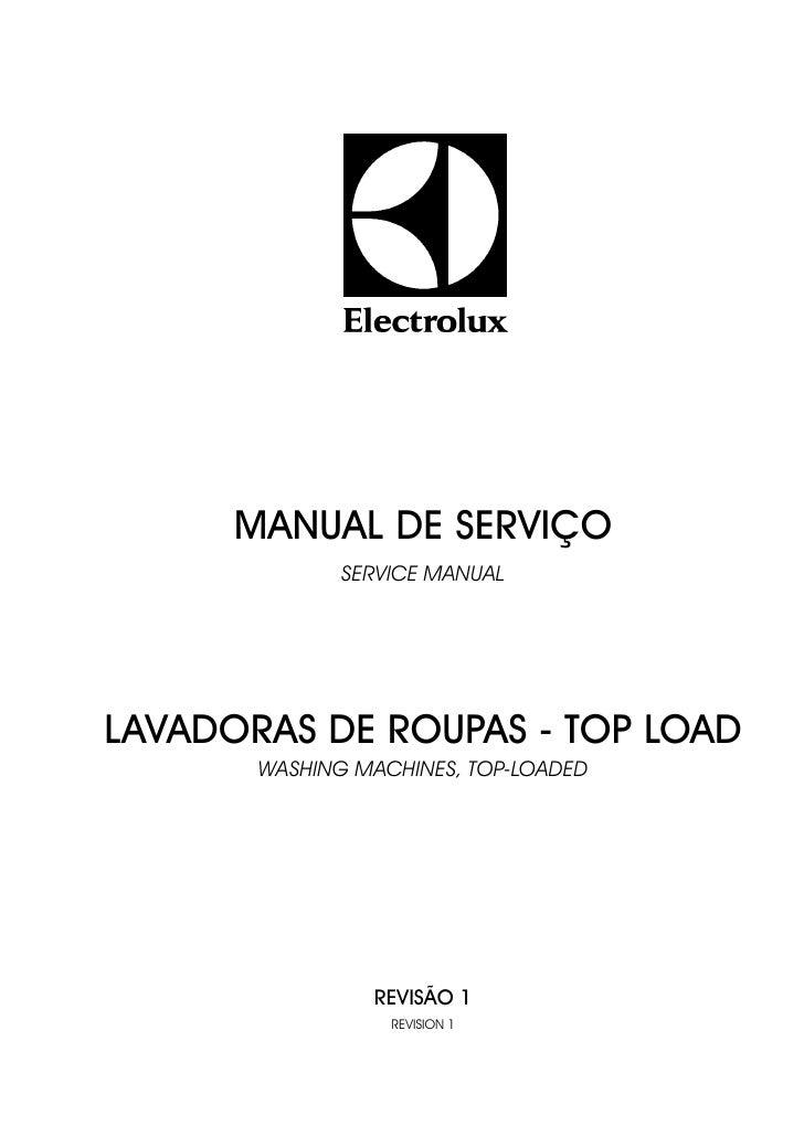 MANUAL DE SERVIÇO               SERVICE MANUAL     LAVADORAS DE ROUPAS - TOP LOAD        WASHING MACHINES, TOP-LOADED     ...