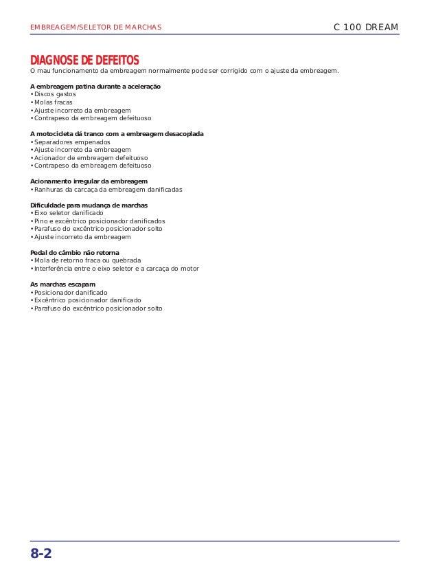 Manual de serviço c 100 dream - 00 x6b-gn5-710 embreage Slide 3