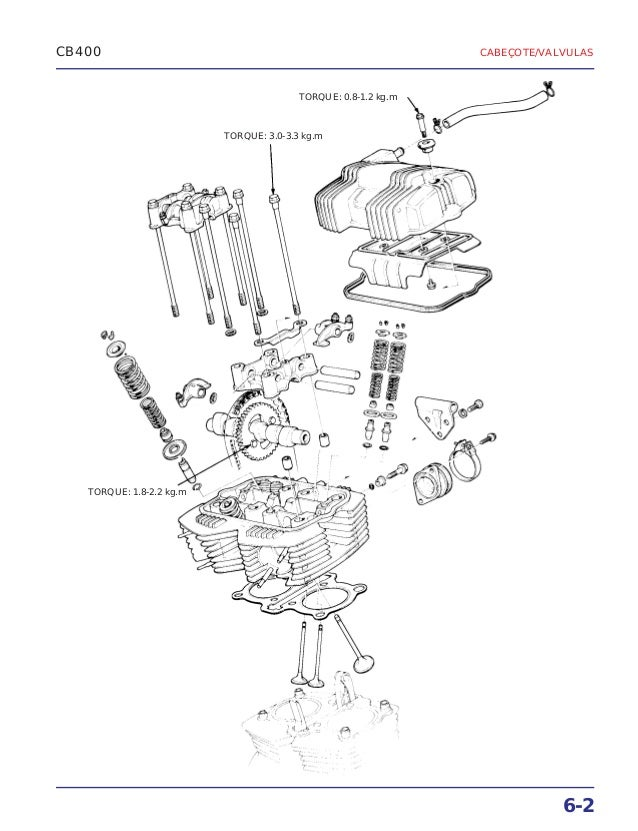Manual de serviço cb400 (1980) ms.001 05-80 cabecote