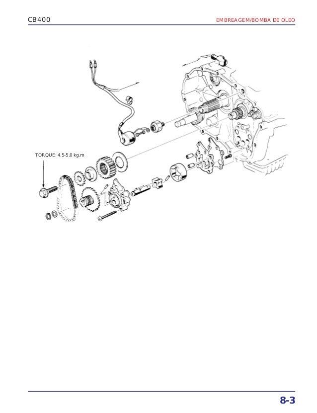 Manual de serviço cb400 (1980) ms.001 05-80 embreage