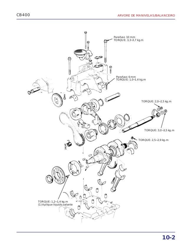 Manual de serviço cb400 (1980) ms.001 05-80 manivela