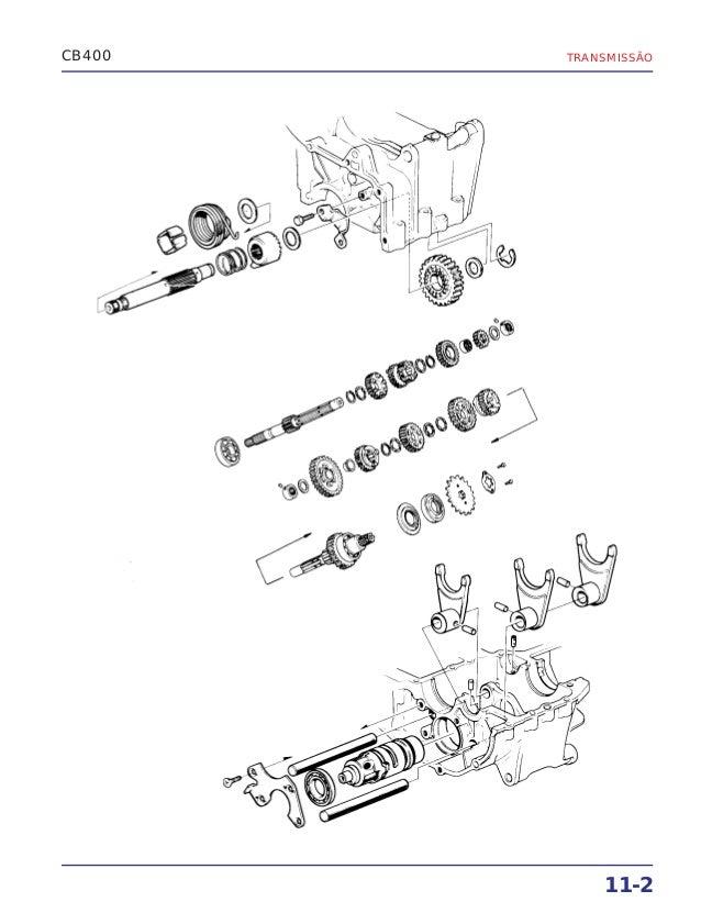 Manual de serviço cb400 (1980) ms.001 05-80 transmis