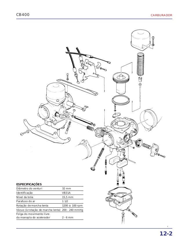 Manual de serviço cb400 carbura