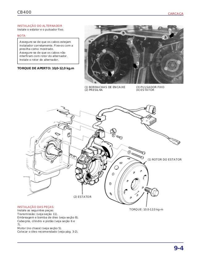 Manual de serviço cb400 carcaca