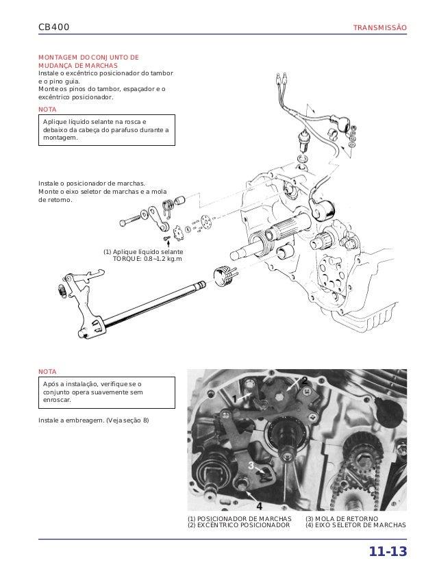 Manual de serviço cb400 transmis