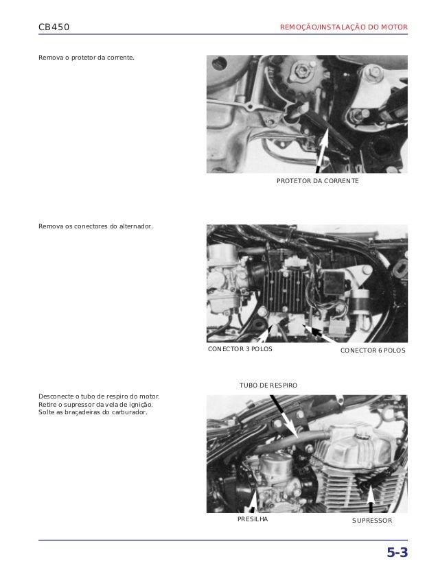 Manual de serviço cb450 e cb450 custom (1983) ms443831 p motor
