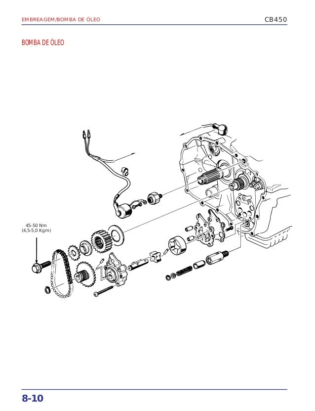 Manual de serviço cb450 embreage