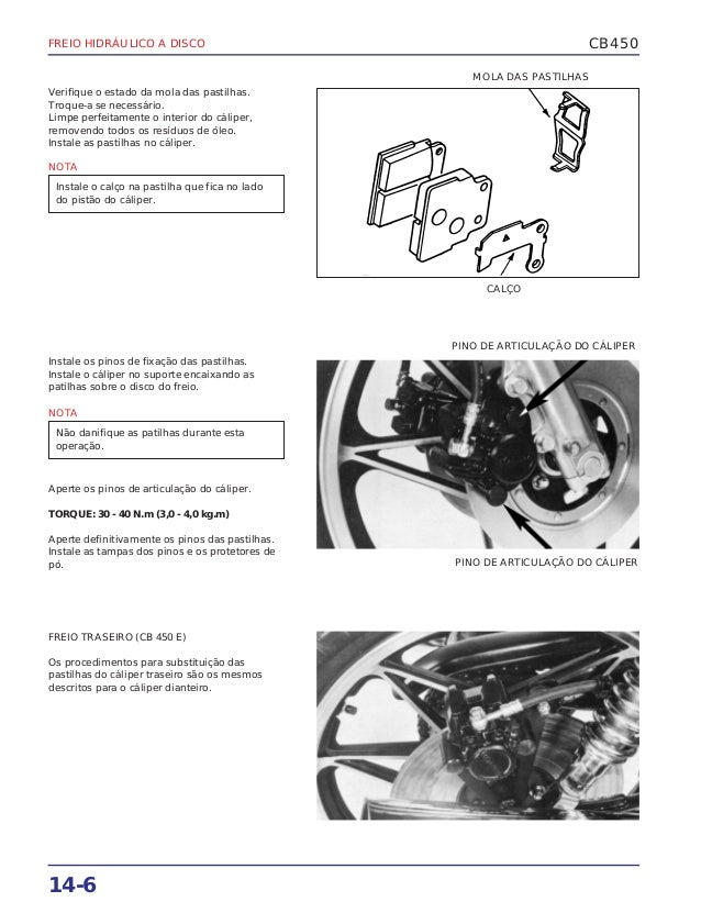 Manual de serviço cb450 freio