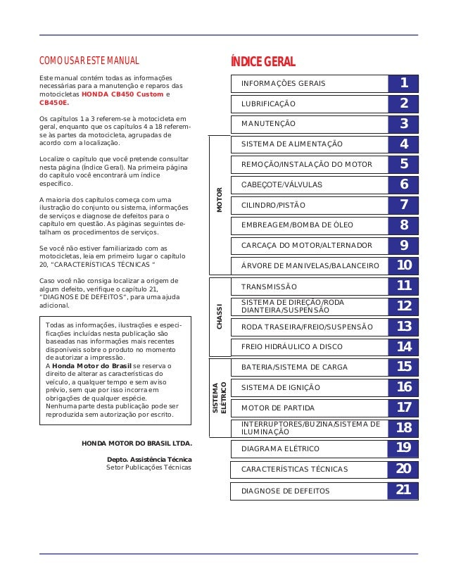 1INFORMAÇÕES GERAIS 2LUBRIFICAÇÃO 3MANUTENÇÃO 4SISTEMA DE ALIMENTAÇÃO 5REMOÇÃO/INSTALAÇÃO DO MOTOR 6CABEÇOTE/VÁLVULAS 7CIL...