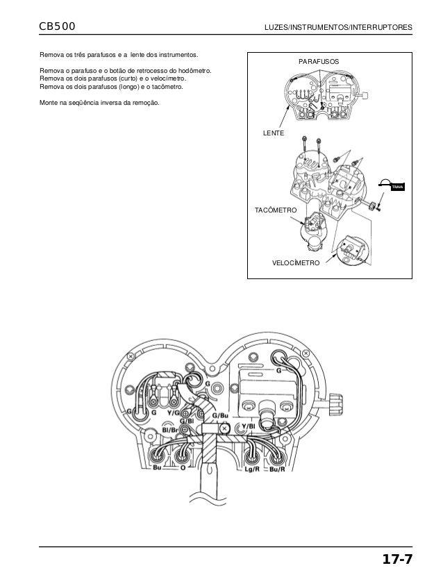 Manual de serviço cb500 luzes