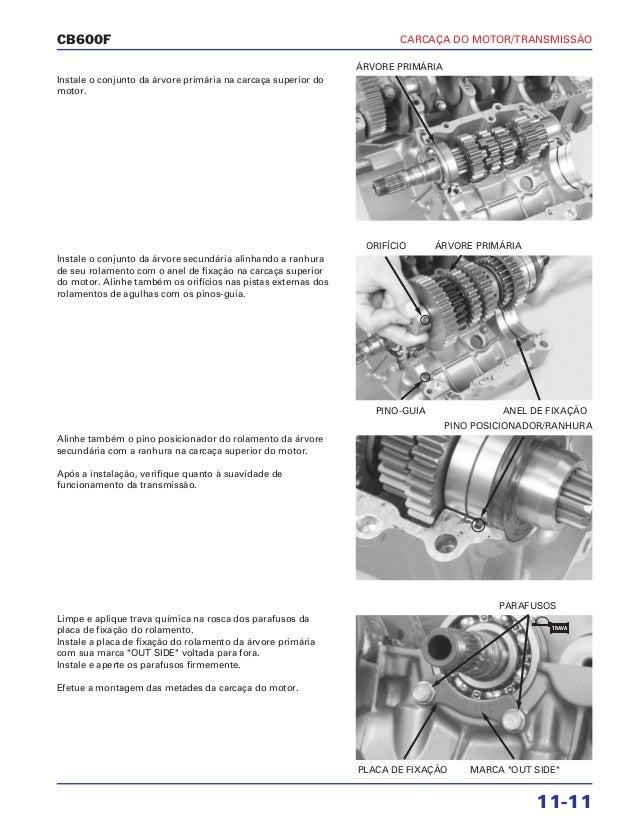Manual de serviço cb600 f hornet carc motor