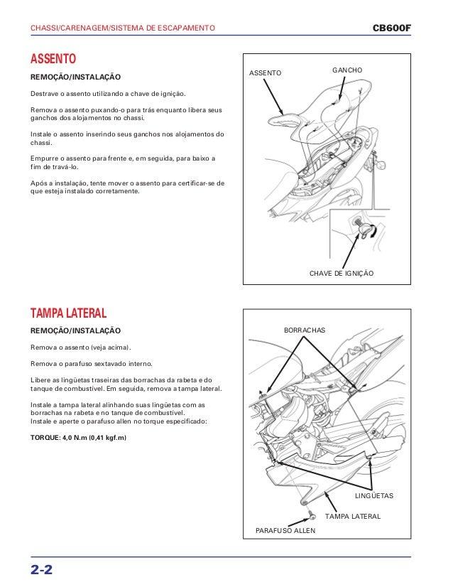 Manual de serviço cb600 f hornet chassi