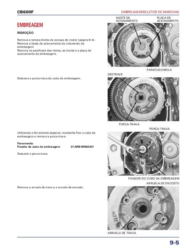 Manual de serviço cb600 f hornet embreagem