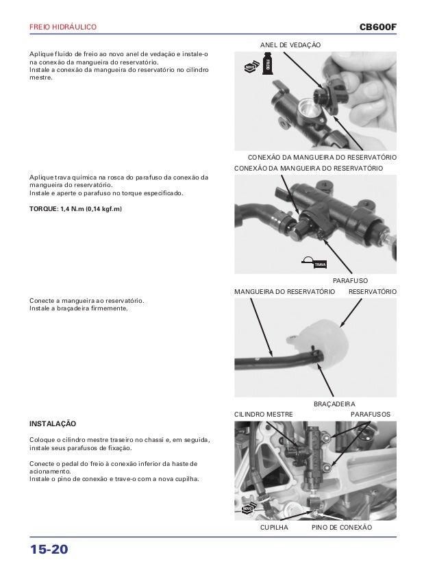 Manual de serviço cb600 f hornet freio hidraulico