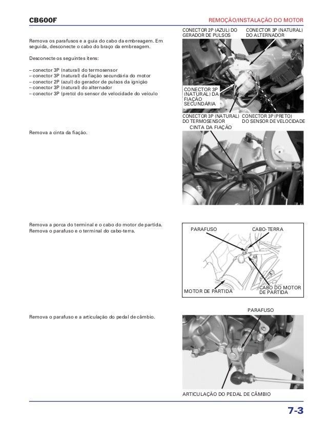 Manual de serviço cb600 f hornet motor