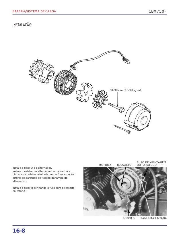 Manual de serviço cbx750 f (1990) bateria