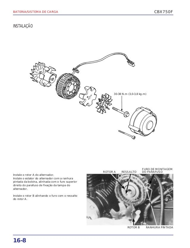 Manual de serviço cbx750 f bateria