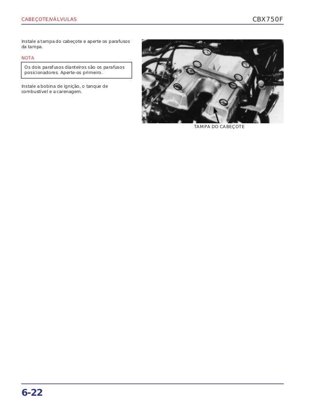 Manual de serviço cbx750 f cabecote