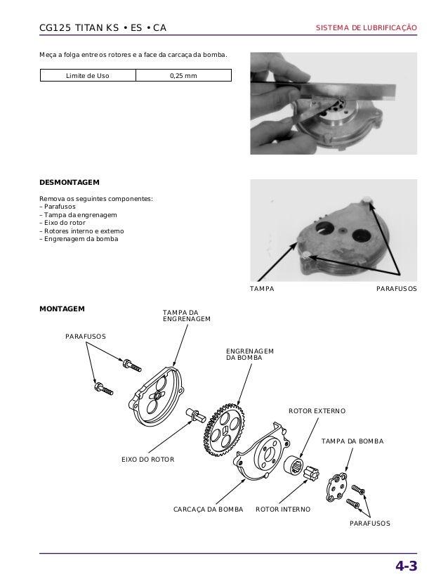 Manual de serviço cg125 titan ks es cg125 cargo lubrific