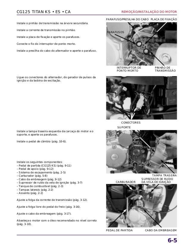 Manual de serviço cg125 titan ks es cg125 cargo motor