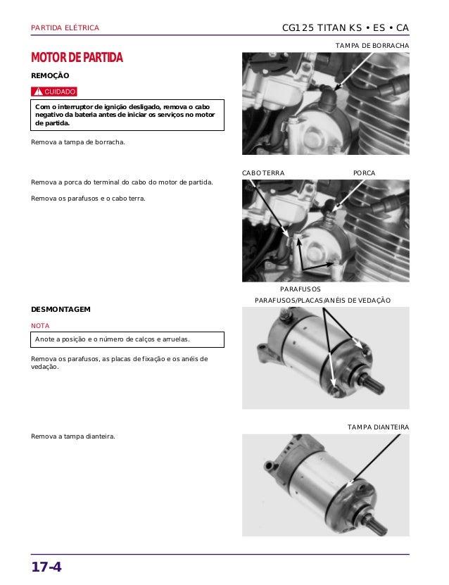 Manual de serviço cg125 titan ks es cg125 cargo partida