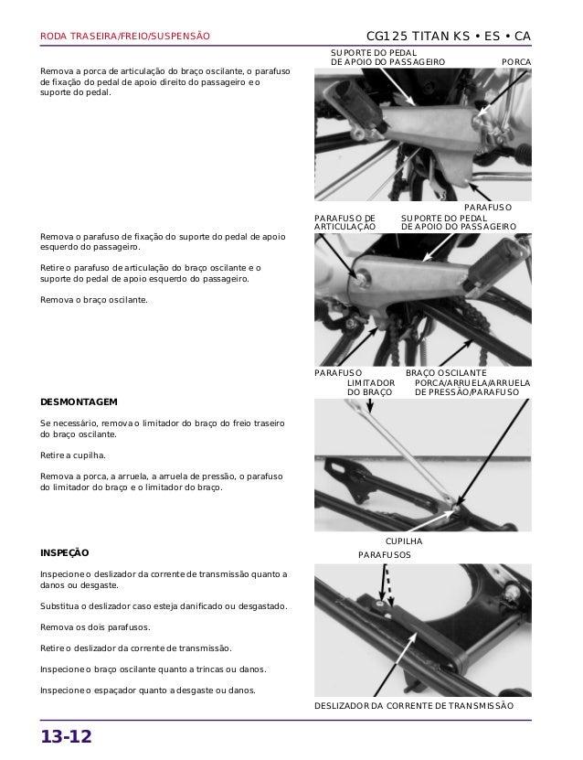 Manual de serviço cg125 titan ks es cg125 cargo rodatras