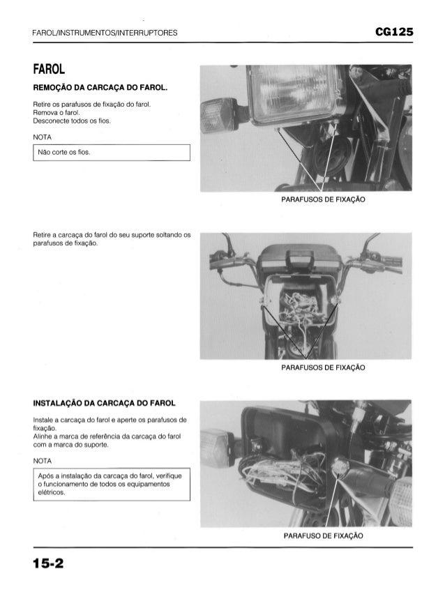 Manual de serviço cg125 today cg125 titan cg125 cargo (1994)   mskch941 p farol Slide 2