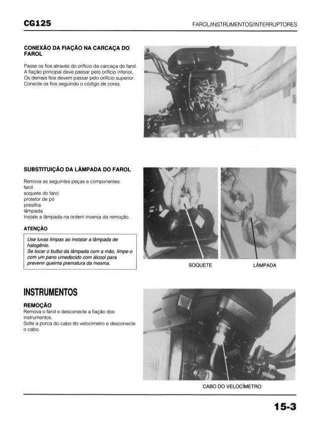 Manual de serviço cg125 today cg125 titan cg125 cargo (1994)   mskch941 p farol Slide 3