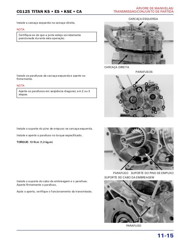 manual de montagem de motor