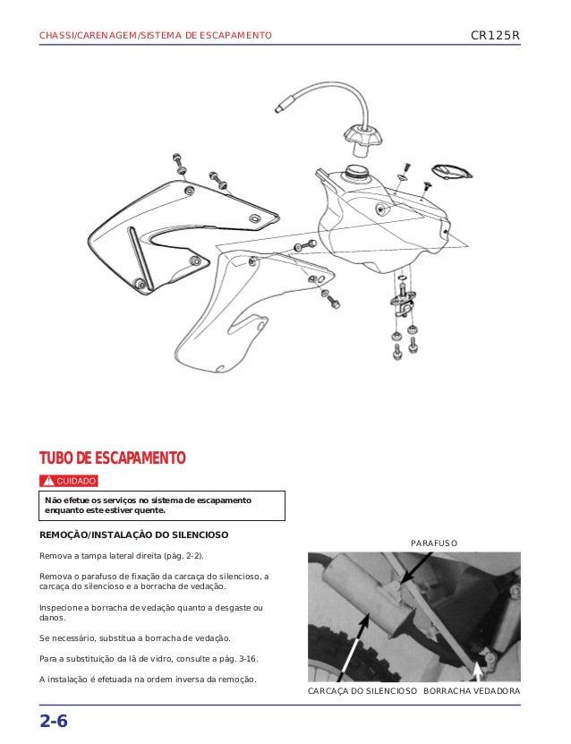 Manual de serviço cr125 00 chassi