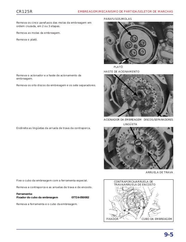 Manual de serviço cr125 00 embreage