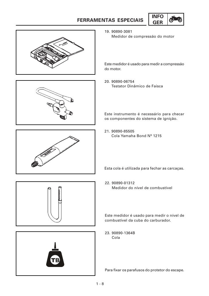 Manual de serviço da yamaha ybr 125cc