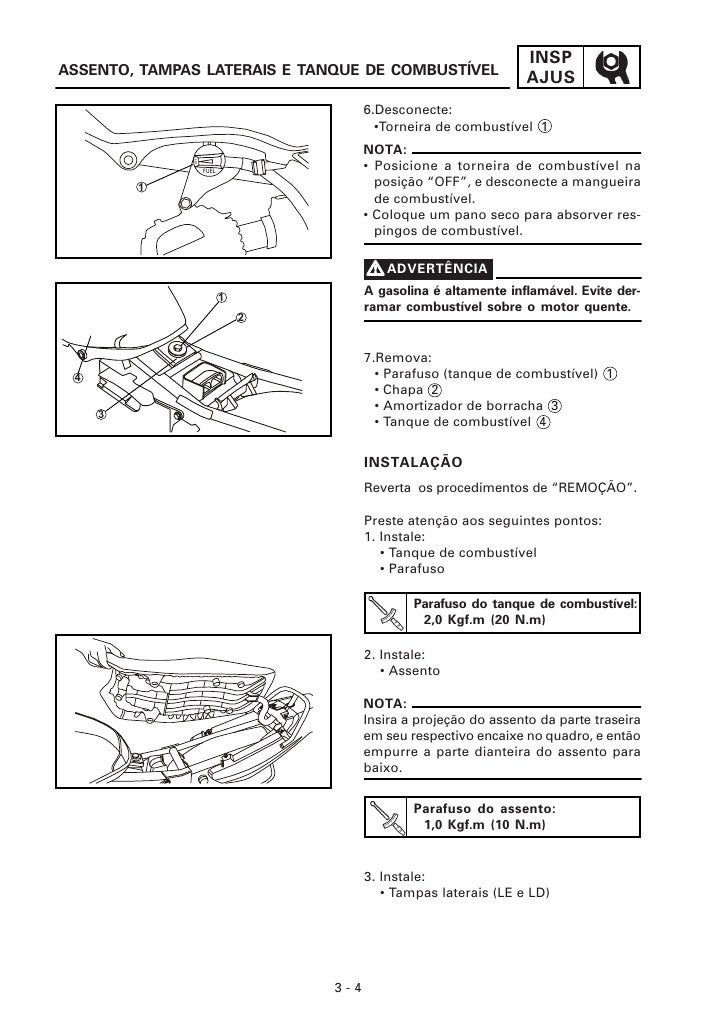 5b3e66c094bd Manual de serviço da yamaha ybr 125cc