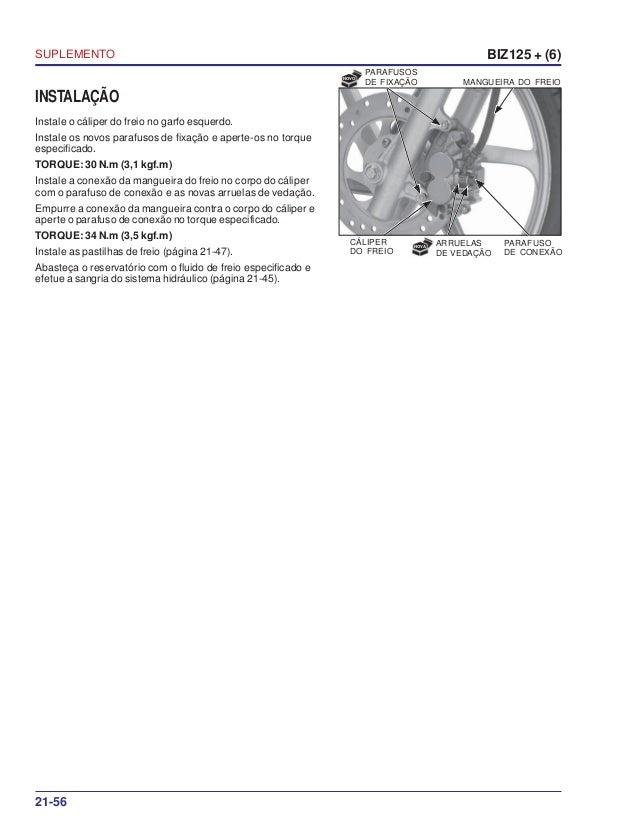 Manual de serviço ms biz125 + (6) suplemento 00 x6b-kss-002